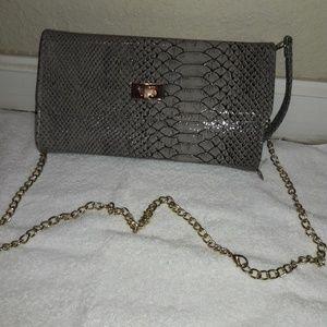 Handbags - Purda faux snakeskin handbag